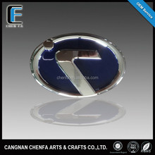 Custom 3D adhesive ABS plastic chrome grille emblems car logo sticker badges