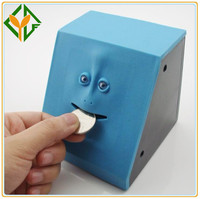 Mini ATM bank with face shape, Eating Money Box Face Bank