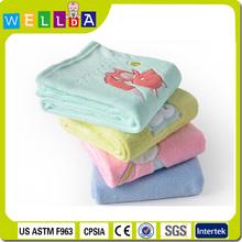 High quality soft plush coral fleece baby blanket