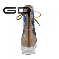 High ankle nest upper lace up flat sandals