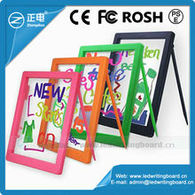 Low price rewritable Acrylic panel new kids toys education magic writing board with 1 free marker pen