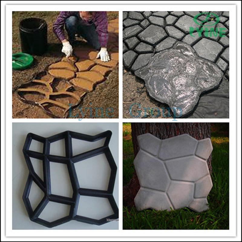 Pavimento de concreto molde diy ferramentas de jardim para - Moldes de cemento ...