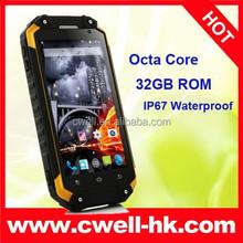 4.7 Inch Android 4.4 UHF Walkie Talkie MTK6592 Octa Core IP67 Waterproof Land Rover X8 Smartphone