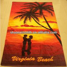 100% cotton design your own beach towel