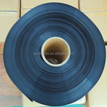 112mm flat size 0.2mm thickness black color pvc heat shrink tube for battery
