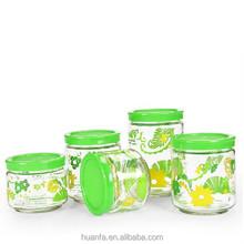 2015 hot selling High Quality Moisture-proof glass bottles sealed glass jar snack milk storage jar Canister Set