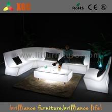 Hot sales led light up sofa, illuminated led sofa, plastic led sofa