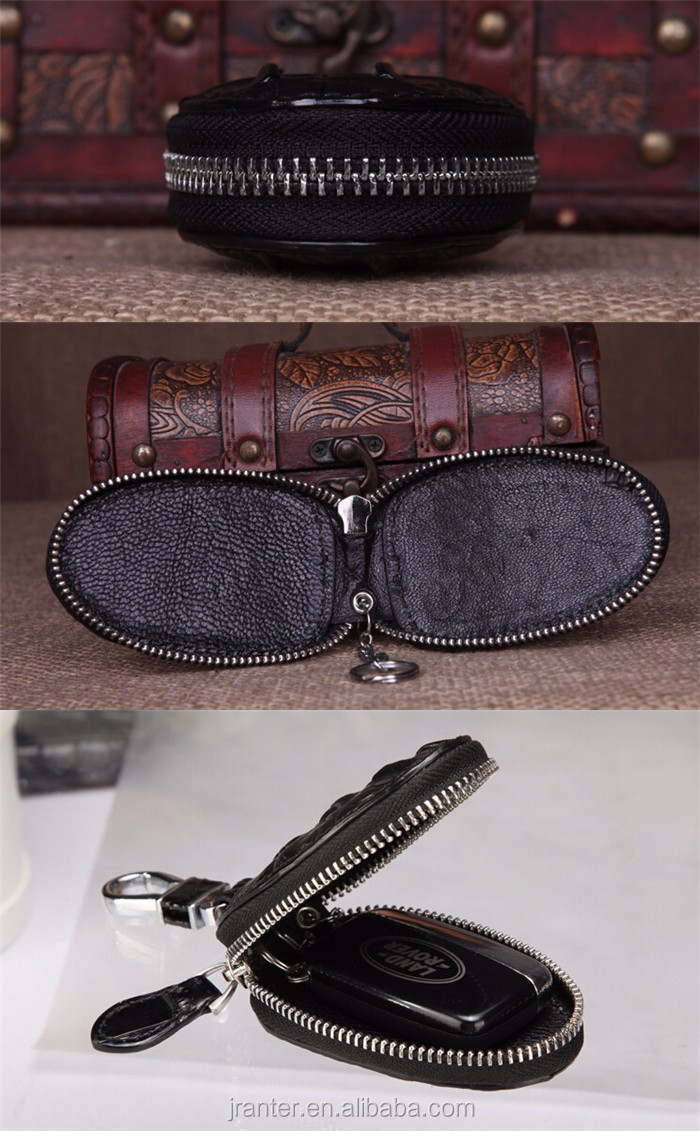 Top Luxury Crocodile Leather Case Car Key  Holder Wallet,High-end Leather bmw key case_9