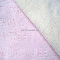 100 polyester embossed polar fleece textile fabric for baby clothes