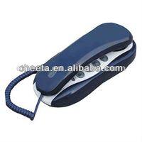 corded phone simple function/Slimline/wall mountable creative design trimline phone for telephone sets