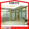 used in office partition wall door and window with aluminum frame
