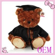 High quality custom plush toy graduation teddy bear
