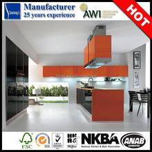 SK250 italian mini orange wood kitchen design hotel furniture from china manufacturer