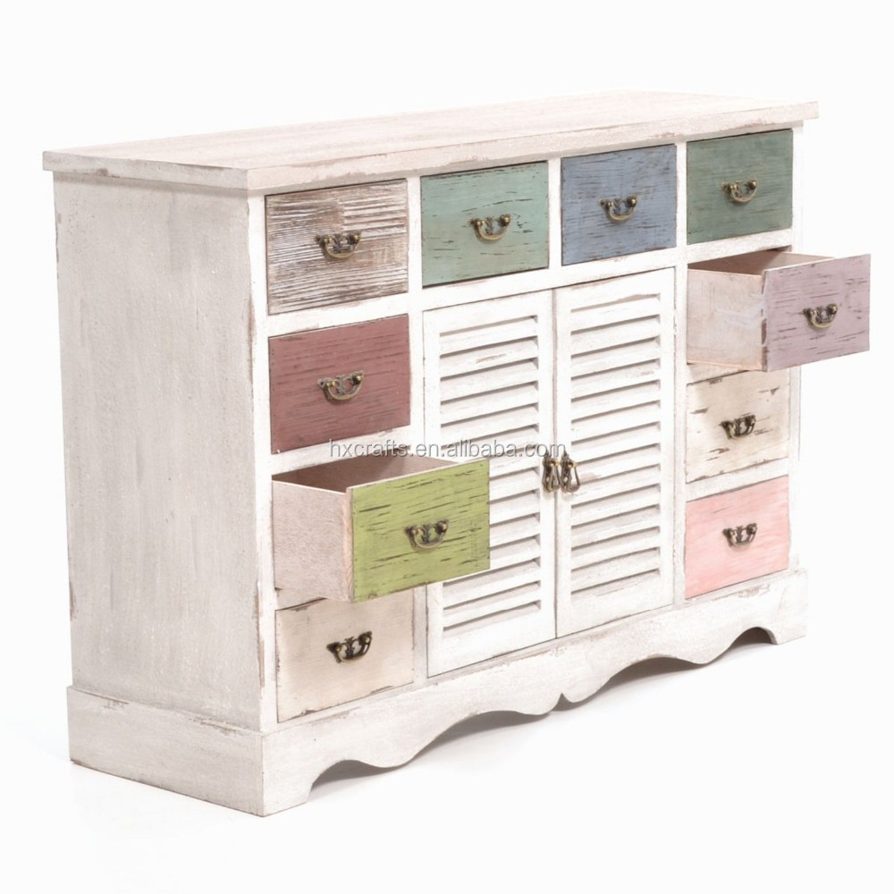 kommode in shabby chic with 10 drawers shabby chic cabinet. Black Bedroom Furniture Sets. Home Design Ideas