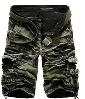 100% cotton high quality freeshipping men's wholesale cargo shorts with 2colors camouflage