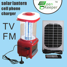 Chinese CHL solar rechargeable led lantern with usb phone charger and SD card