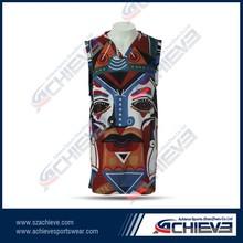 Full sublimation print camo men's team basketball uniforms/basketball tops