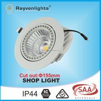 Retrofit Designed CE TUV 230V CRI80 30W Adjustable LED Recessed Downlights White Housing Gimbal LED Downlight for Store
