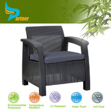 Alum Frame Outdoor Modern Design Multicolor PE Cane French Bistro Antique Rattan Chair On Sale