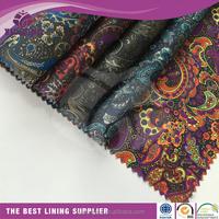 high quality taffeta print pattern waterproof clothing lining material fabric Zhejiang textile