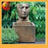 Outdoor dancing lion head wall fountain