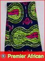 de tela africana real de cera de algodón de impresión de color azul marino de la moda africana 6 rw1109012 yardas