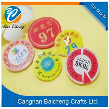 wholesale cheap adorable creative acrylic plate/plastic name tag for employee and workers supports logo design by yourself