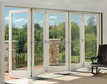 folding partition wall triple sliding glass door screen