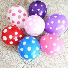 100pcs/lot Polka Dot Balloons wedding marry marriage room decoration essential 12 inch round ballon classic toys