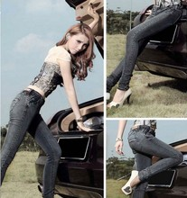FASHION LADIES SEXY TIGHT JEANS TROUSERS