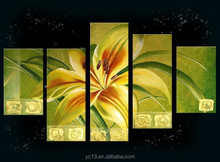 Acrylic new style art painting, 5pcs panel home decor flower art painting
