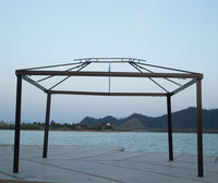 3x3m deluxe patio used wrought iron outdoor gazebo for sale
