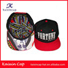 Custom 3D embroidery hat with satin inner lining red flat brim