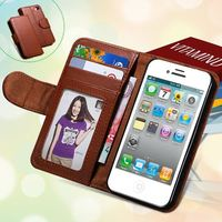 Retro Po Frame Wallet Case for Iphone 5 5S 5G Flip Plain Skin Stand Luxury Leather Cover For Iphone 5 5S Case Mobile Phone in st
