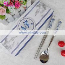 A0542 Ceramics Chinese Style Chopsticks Spoon Set Wedding Server Sets