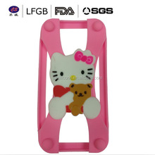 Hollo kitty shape universal silicone soft brand name phone case for mobile phone