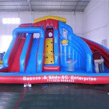 fun water slide , LZ-B3531 hot hippo inflatable water slide