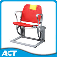 Riser mounting folding plastic chairs for stadium, arena, gym, school hall(CS-ZZB-LC)