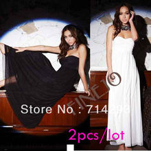 New Ladies Summer Sexy Off Shoulder Boob Tube Top Full-length Long Evening Dress 3665