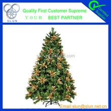 Happy Merry christmas green hot selling glow in the dark christmas tree made in china