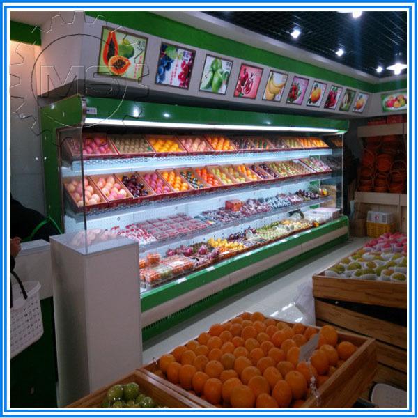 Meat Fruit Vegetable Using Display Fridge Commercial