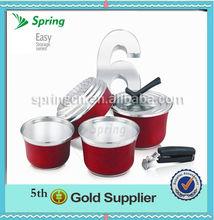 6 pc colorido de acero inoxidable utensilios de cocina conjunto
