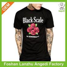 wholesale printed black men cotton t shirts