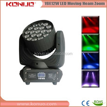 19x12W RGBW LED 4in1 mac aura moving head with zoom