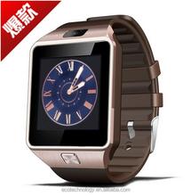 Factory Wholesale useful smart watch DZ09, sim slot smart watch phone