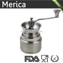 Manual stainless steel coffee grinder, hand crank coffee grinder