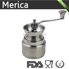 Manual stainless steel coffee grinder