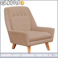 modern design fabric sofa with wood legs