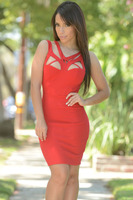 New Summer Style Fashion Women Party Clubwear 3 Colors Sexy Shoulder Cutout Bodycon Dress LC22196 Mono Mujer Corto