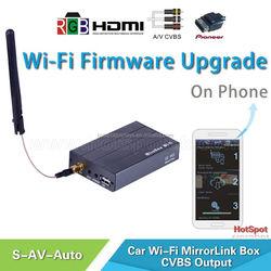 Add MirrorLink Smart Phone Screen Mirroring to any Car Head Unit with AV/ car wireless audio video miracast